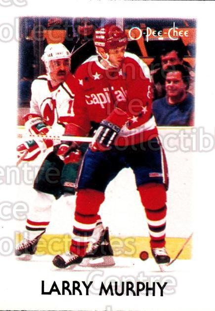 1987-88 O-Pee-Chee Minis #31 Larry Murphy<br/>17 In Stock - $1.00 each - <a href=https://centericecollectibles.foxycart.com/cart?name=1987-88%20O-Pee-Chee%20Minis%20%2331%20Larry%20Murphy...&quantity_max=17&price=$1.00&code=23545 class=foxycart> Buy it now! </a>