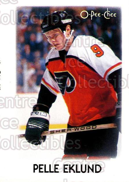 1987-88 O-Pee-Chee Minis #9 Pelle Eklund<br/>17 In Stock - $1.00 each - <a href=https://centericecollectibles.foxycart.com/cart?name=1987-88%20O-Pee-Chee%20Minis%20%239%20Pelle%20Eklund...&quantity_max=17&price=$1.00&code=23560 class=foxycart> Buy it now! </a>