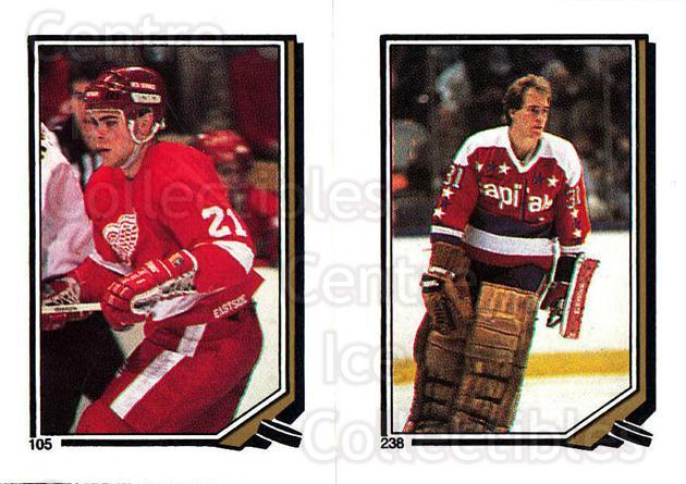 1987-88 O-Pee-Chee Stickers #105-238 Adam Oates, Bob Mason<br/>4 In Stock - $2.00 each - <a href=https://centericecollectibles.foxycart.com/cart?name=1987-88%20O-Pee-Chee%20Stickers%20%23105-238%20Adam%20Oates,%20Bob...&quantity_max=4&price=$2.00&code=23567 class=foxycart> Buy it now! </a>