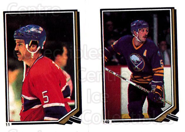 1987-88 O-Pee-Chee Stickers #011-149 Rick Green, Mike Ramsey<br/>10 In Stock - $1.00 each - <a href=https://centericecollectibles.foxycart.com/cart?name=1987-88%20O-Pee-Chee%20Stickers%20%23011-149%20Rick%20Green,%20Mik...&quantity_max=10&price=$1.00&code=23572 class=foxycart> Buy it now! </a>