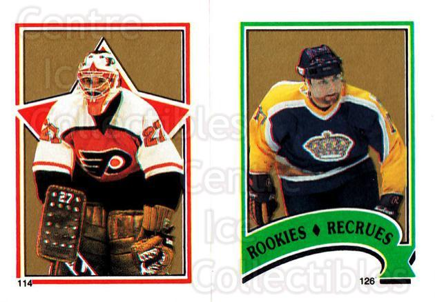 1987-88 O-Pee-Chee Stickers #114-126 Ron Hextall, Jimmy Carson<br/>7 In Stock - $2.00 each - <a href=https://centericecollectibles.foxycart.com/cart?name=1987-88%20O-Pee-Chee%20Stickers%20%23114-126%20Ron%20Hextall,%20Ji...&quantity_max=7&price=$2.00&code=23576 class=foxycart> Buy it now! </a>
