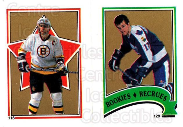 1987-88 O-Pee-Chee Stickers #116-128 Ray Bourque, Vincent Damphousse<br/>8 In Stock - $2.00 each - <a href=https://centericecollectibles.foxycart.com/cart?name=1987-88%20O-Pee-Chee%20Stickers%20%23116-128%20Ray%20Bourque,%20Vi...&quantity_max=8&price=$2.00&code=23577 class=foxycart> Buy it now! </a>