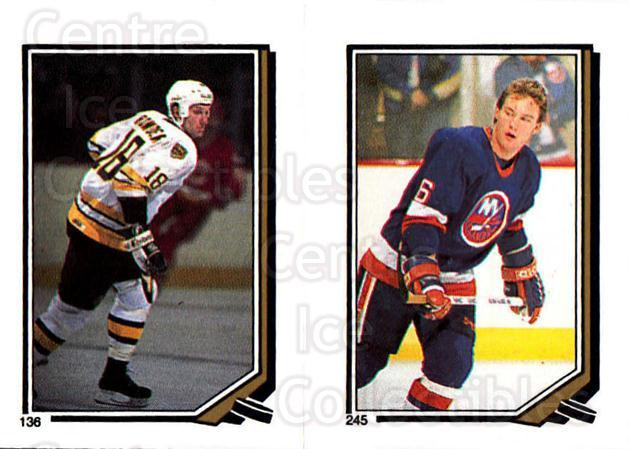1987-88 O-Pee-Chee Stickers #136-245 Keith Crowder, Pat Flatley<br/>9 In Stock - $2.00 each - <a href=https://centericecollectibles.foxycart.com/cart?name=1987-88%20O-Pee-Chee%20Stickers%20%23136-245%20Keith%20Crowder,%20...&quantity_max=9&price=$2.00&code=23594 class=foxycart> Buy it now! </a>