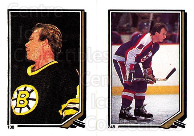 1987-88 O-Pee-Chee Stickers #138-248 Rick Middleton, Randy Carlyle<br/>8 In Stock - $2.00 each - <a href=https://centericecollectibles.foxycart.com/cart?name=1987-88%20O-Pee-Chee%20Stickers%20%23138-248%20Rick%20Middleton,...&quantity_max=8&price=$2.00&code=23596 class=foxycart> Buy it now! </a>