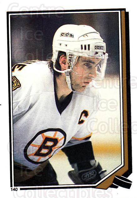 1987-88 O-Pee-Chee Stickers #140-0 Ray Bourque<br/>7 In Stock - $2.00 each - <a href=https://centericecollectibles.foxycart.com/cart?name=1987-88%20O-Pee-Chee%20Stickers%20%23140-0%20Ray%20Bourque...&quantity_max=7&price=$2.00&code=23599 class=foxycart> Buy it now! </a>