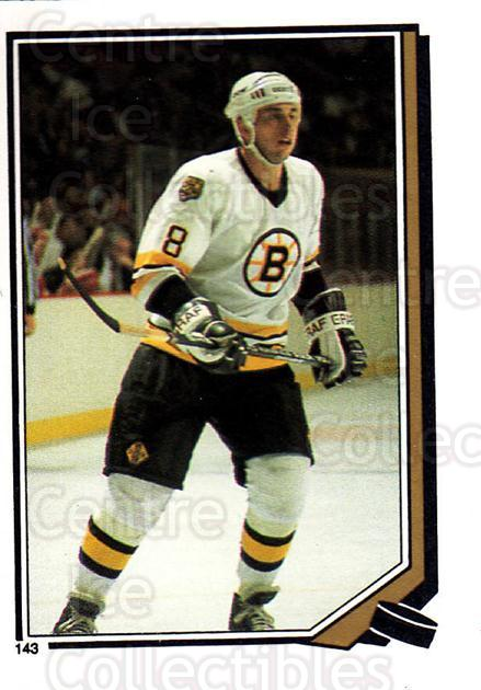 1987-88 O-Pee-Chee Stickers #143-0 Cam Neely<br/>5 In Stock - $2.00 each - <a href=https://centericecollectibles.foxycart.com/cart?name=1987-88%20O-Pee-Chee%20Stickers%20%23143-0%20Cam%20Neely...&quantity_max=5&price=$2.00&code=23602 class=foxycart> Buy it now! </a>