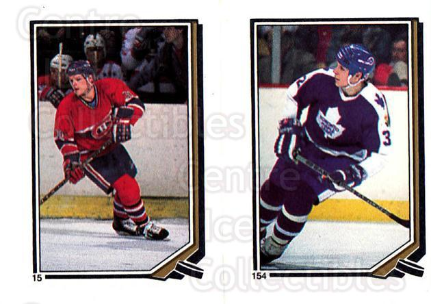 1987-88 O-Pee-Chee Stickers #015-154 Chris Nilan, Steve Thomas<br/>8 In Stock - $2.00 each - <a href=https://centericecollectibles.foxycart.com/cart?name=1987-88%20O-Pee-Chee%20Stickers%20%23015-154%20Chris%20Nilan,%20St...&quantity_max=8&price=$2.00&code=23609 class=foxycart> Buy it now! </a>