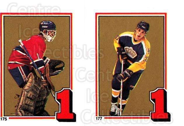 1987-88 O-Pee-Chee Stickers #175-177 Brian Hayward, Luc Robitaille<br/>10 In Stock - $2.00 each - <a href=https://centericecollectibles.foxycart.com/cart?name=1987-88%20O-Pee-Chee%20Stickers%20%23175-177%20Brian%20Hayward,%20...&quantity_max=10&price=$2.00&code=23634 class=foxycart> Buy it now! </a>