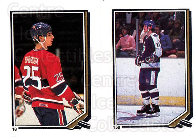 1987-88 O-Pee-Chee Stickers #018-158 Petr Svoboda, Miroslav Frycer<br/>1 In Stock - $2.00 each - <a href=https://centericecollectibles.foxycart.com/cart?name=1987-88%20O-Pee-Chee%20Stickers%20%23018-158%20Petr%20Svoboda,%20M...&quantity_max=1&price=$2.00&code=23638 class=foxycart> Buy it now! </a>