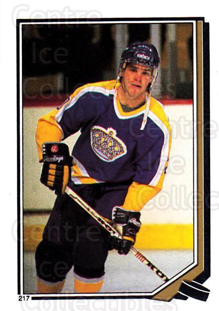 1987-88 O-Pee-Chee Stickers #217-0 Luc Robitaille<br/>7 In Stock - $2.00 each - <a href=https://centericecollectibles.foxycart.com/cart?name=1987-88%20O-Pee-Chee%20Stickers%20%23217-0%20Luc%20Robitaille...&quantity_max=7&price=$2.00&code=23676 class=foxycart> Buy it now! </a>