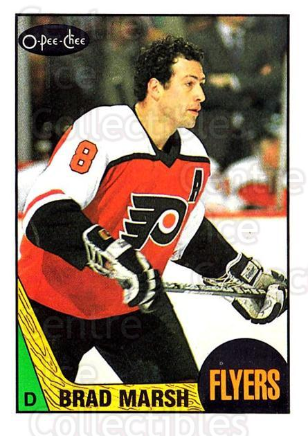 1987-88 O-Pee-Chee #128 Brad Marsh<br/>7 In Stock - $1.00 each - <a href=https://centericecollectibles.foxycart.com/cart?name=1987-88%20O-Pee-Chee%20%23128%20Brad%20Marsh...&quantity_max=7&price=$1.00&code=23737 class=foxycart> Buy it now! </a>