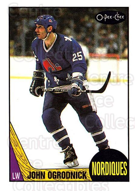 1987-88 O-Pee-Chee #134 John Ogrodnick<br/>9 In Stock - $1.00 each - <a href=https://centericecollectibles.foxycart.com/cart?name=1987-88%20O-Pee-Chee%20%23134%20John%20Ogrodnick...&quantity_max=9&price=$1.00&code=23743 class=foxycart> Buy it now! </a>