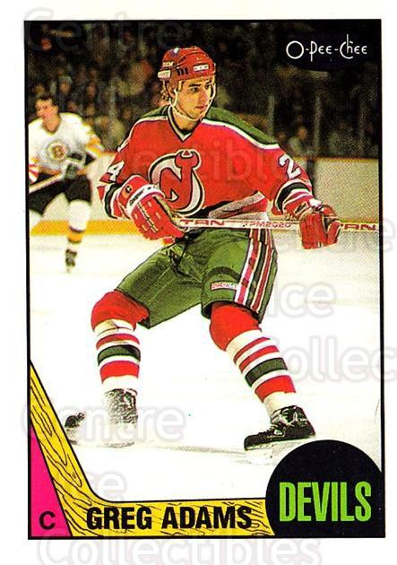 1987-88 O-Pee-Chee #135 Greg Adams<br/>7 In Stock - $1.00 each - <a href=https://centericecollectibles.foxycart.com/cart?name=1987-88%20O-Pee-Chee%20%23135%20Greg%20Adams...&quantity_max=7&price=$1.00&code=23744 class=foxycart> Buy it now! </a>