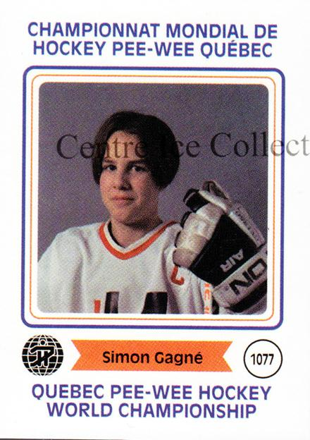 2006 Quebec Pee-Wee Danone #4 Simon Gagne<br/>3 In Stock - $2.00 each - <a href=https://centericecollectibles.foxycart.com/cart?name=2006%20Quebec%20Pee-Wee%20Danone%20%234%20Simon%20Gagne...&quantity_max=3&price=$2.00&code=237474 class=foxycart> Buy it now! </a>