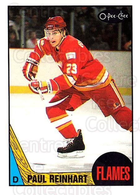 1987-88 O-Pee-Chee #143 Paul Reinhart<br/>9 In Stock - $1.00 each - <a href=https://centericecollectibles.foxycart.com/cart?name=1987-88%20O-Pee-Chee%20%23143%20Paul%20Reinhart...&quantity_max=9&price=$1.00&code=23752 class=foxycart> Buy it now! </a>