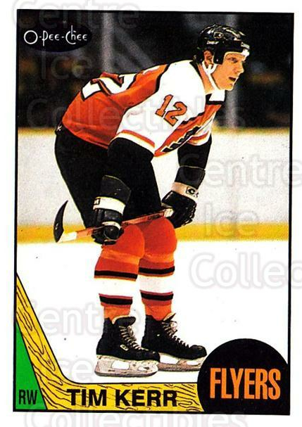 1987-88 O-Pee-Chee #144 Tim Kerr<br/>8 In Stock - $1.00 each - <a href=https://centericecollectibles.foxycart.com/cart?name=1987-88%20O-Pee-Chee%20%23144%20Tim%20Kerr...&quantity_max=8&price=$1.00&code=23753 class=foxycart> Buy it now! </a>