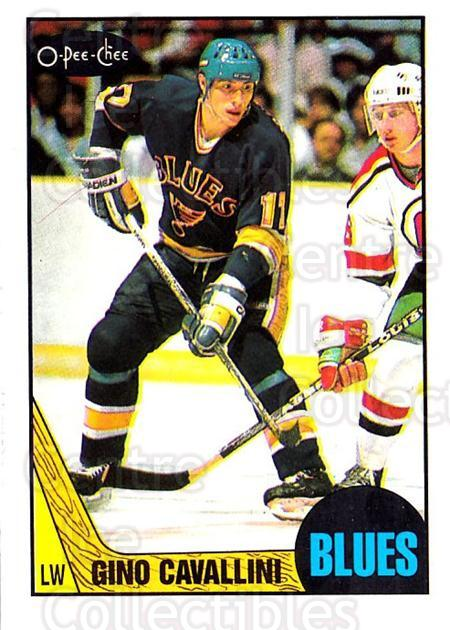 1987-88 O-Pee-Chee #146 Gino Cavallini<br/>3 In Stock - $2.00 each - <a href=https://centericecollectibles.foxycart.com/cart?name=1987-88%20O-Pee-Chee%20%23146%20Gino%20Cavallini...&quantity_max=3&price=$2.00&code=23755 class=foxycart> Buy it now! </a>