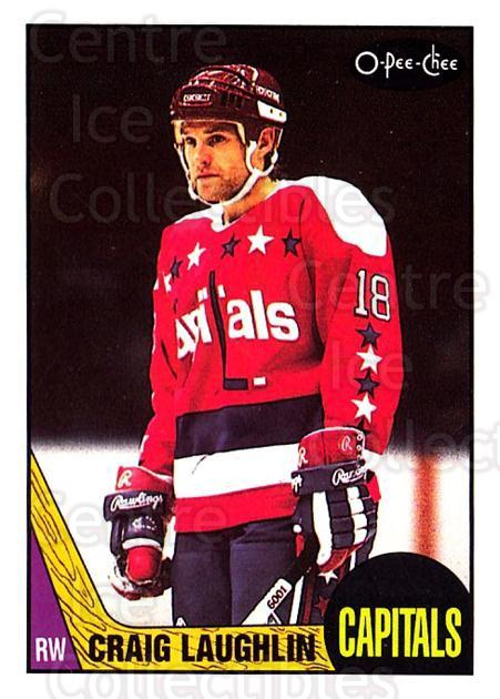 1987-88 O-Pee-Chee #161 Craig Laughlin<br/>6 In Stock - $1.00 each - <a href=https://centericecollectibles.foxycart.com/cart?name=1987-88%20O-Pee-Chee%20%23161%20Craig%20Laughlin...&quantity_max=6&price=$1.00&code=23771 class=foxycart> Buy it now! </a>