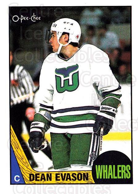 1987-88 O-Pee-Chee #166 Dean Evason<br/>9 In Stock - $1.00 each - <a href=https://centericecollectibles.foxycart.com/cart?name=1987-88%20O-Pee-Chee%20%23166%20Dean%20Evason...&quantity_max=9&price=$1.00&code=23775 class=foxycart> Buy it now! </a>