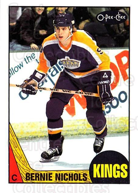 1987-88 O-Pee-Chee #183 Bernie Nicholls<br/>4 In Stock - $1.00 each - <a href=https://centericecollectibles.foxycart.com/cart?name=1987-88%20O-Pee-Chee%20%23183%20Bernie%20Nicholls...&quantity_max=4&price=$1.00&code=23793 class=foxycart> Buy it now! </a>