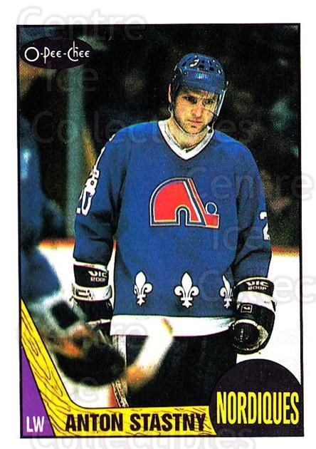 1987-88 O-Pee-Chee #185 Anton Stastny<br/>7 In Stock - $1.00 each - <a href=https://centericecollectibles.foxycart.com/cart?name=1987-88%20O-Pee-Chee%20%23185%20Anton%20Stastny...&quantity_max=7&price=$1.00&code=23795 class=foxycart> Buy it now! </a>