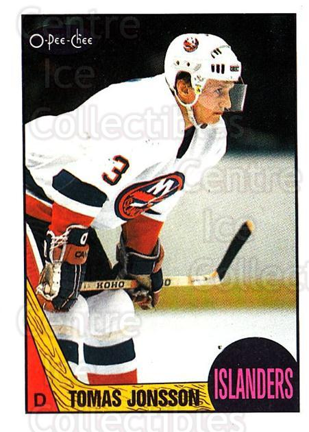 1987-88 O-Pee-Chee #190 Tomas Jonsson<br/>6 In Stock - $1.00 each - <a href=https://centericecollectibles.foxycart.com/cart?name=1987-88%20O-Pee-Chee%20%23190%20Tomas%20Jonsson...&quantity_max=6&price=$1.00&code=23800 class=foxycart> Buy it now! </a>