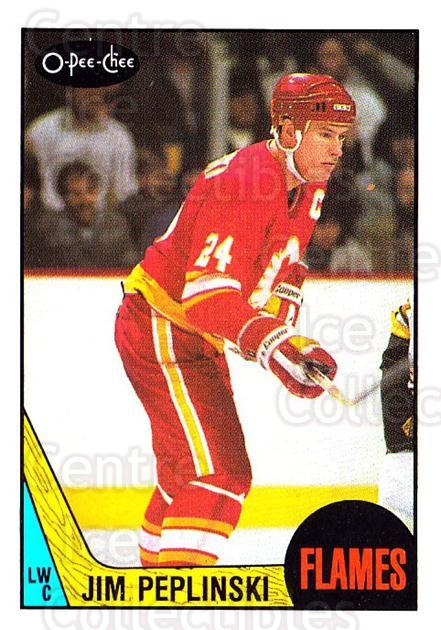 1987-88 O-Pee-Chee #209 Jim Peplinski<br/>8 In Stock - $1.00 each - <a href=https://centericecollectibles.foxycart.com/cart?name=1987-88%20O-Pee-Chee%20%23209%20Jim%20Peplinski...&quantity_max=8&price=$1.00&code=23818 class=foxycart> Buy it now! </a>