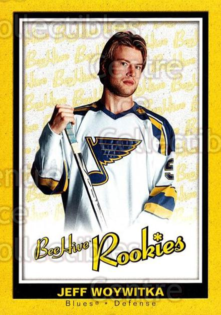 2005-06 Beehive #111 Jeff Woywitka<br/>3 In Stock - $3.00 each - <a href=https://centericecollectibles.foxycart.com/cart?name=2005-06%20Beehive%20%23111%20Jeff%20Woywitka...&price=$3.00&code=238212 class=foxycart> Buy it now! </a>