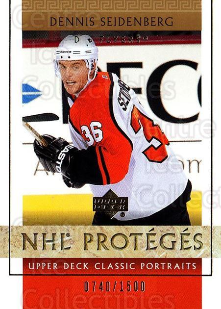 2002-03 UD Classic Portraits #123 Dennis Seidenberg<br/>7 In Stock - $3.00 each - <a href=https://centericecollectibles.foxycart.com/cart?name=2002-03%20UD%20Classic%20Portraits%20%23123%20Dennis%20Seidenbe...&quantity_max=7&price=$3.00&code=238246 class=foxycart> Buy it now! </a>