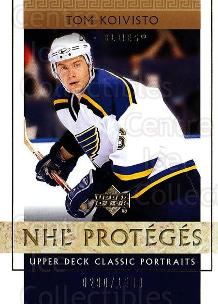 2002-03 UD Classic Portraits #127 Tom Koivisto<br/>4 In Stock - $3.00 each - <a href=https://centericecollectibles.foxycart.com/cart?name=2002-03%20UD%20Classic%20Portraits%20%23127%20Tom%20Koivisto...&quantity_max=4&price=$3.00&code=238247 class=foxycart> Buy it now! </a>