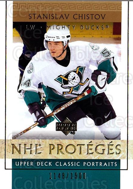 2002-03 UD Classic Portraits #102 Stanislav Chistov<br/>4 In Stock - $3.00 each - <a href=https://centericecollectibles.foxycart.com/cart?name=2002-03%20UD%20Classic%20Portraits%20%23102%20Stanislav%20Chist...&quantity_max=4&price=$3.00&code=238249 class=foxycart> Buy it now! </a>