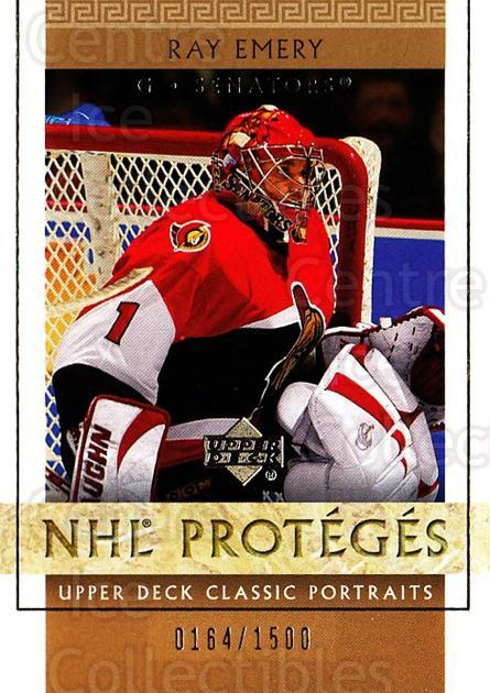 2002-03 UD Classic Portraits #138 Ray Emery<br/>7 In Stock - $3.00 each - <a href=https://centericecollectibles.foxycart.com/cart?name=2002-03%20UD%20Classic%20Portraits%20%23138%20Ray%20Emery...&quantity_max=7&price=$3.00&code=238253 class=foxycart> Buy it now! </a>