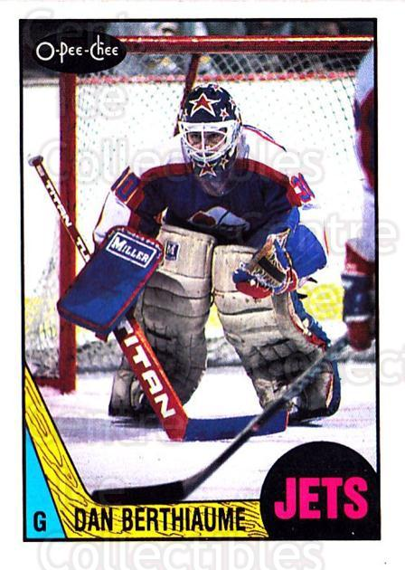 1987-88 O-Pee-Chee #217 Daniel Berthiaume<br/>4 In Stock - $1.00 each - <a href=https://centericecollectibles.foxycart.com/cart?name=1987-88%20O-Pee-Chee%20%23217%20Daniel%20Berthiau...&quantity_max=4&price=$1.00&code=23826 class=foxycart> Buy it now! </a>
