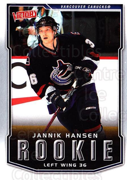 2007-08 UD Victory #245 Jannik Hansen<br/>1 In Stock - $2.00 each - <a href=https://centericecollectibles.foxycart.com/cart?name=2007-08%20UD%20Victory%20%23245%20Jannik%20Hansen...&price=$2.00&code=238297 class=foxycart> Buy it now! </a>