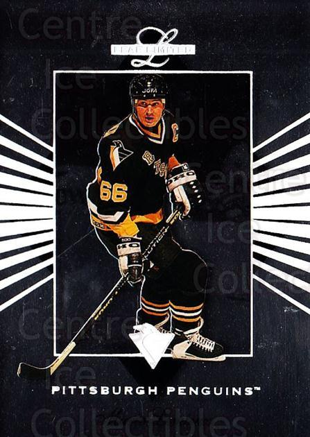 1994-95 Leaf Limited #1 Mario Lemieux<br/>2 In Stock - $3.00 each - <a href=https://centericecollectibles.foxycart.com/cart?name=1994-95%20Leaf%20Limited%20%231%20Mario%20Lemieux...&quantity_max=2&price=$3.00&code=238309 class=foxycart> Buy it now! </a>
