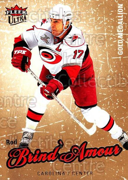 2008-09 Ultra Gold #22 Rod Brind'Amour<br/>5 In Stock - $2.00 each - <a href=https://centericecollectibles.foxycart.com/cart?name=2008-09%20Ultra%20Gold%20%2322%20Rod%20Brind'Amour...&quantity_max=5&price=$2.00&code=238377 class=foxycart> Buy it now! </a>
