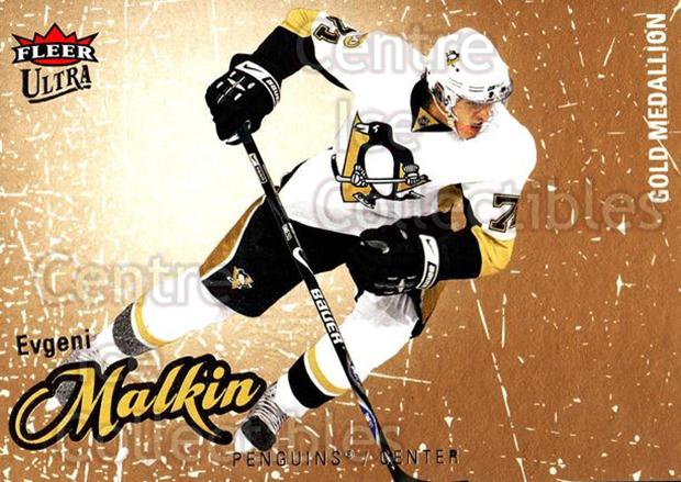 2008-09 Ultra Gold #77 Evgeni Malkin<br/>5 In Stock - $3.00 each - <a href=https://centericecollectibles.foxycart.com/cart?name=2008-09%20Ultra%20Gold%20%2377%20Evgeni%20Malkin...&quantity_max=5&price=$3.00&code=238432 class=foxycart> Buy it now! </a>