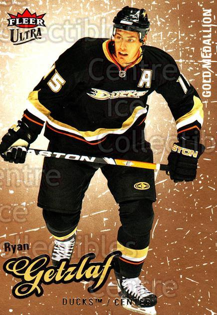 2008-09 Ultra Gold #102 Ryan Getzlaf<br/>4 In Stock - $2.00 each - <a href=https://centericecollectibles.foxycart.com/cart?name=2008-09%20Ultra%20Gold%20%23102%20Ryan%20Getzlaf...&quantity_max=4&price=$2.00&code=238457 class=foxycart> Buy it now! </a>