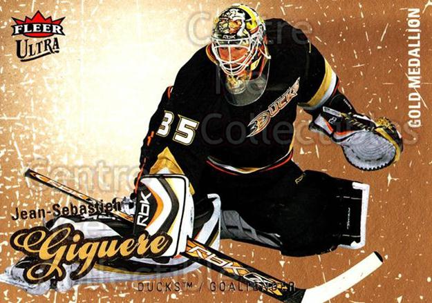 2008-09 Ultra Gold #103 Jean-Sebastien Giguere<br/>5 In Stock - $2.00 each - <a href=https://centericecollectibles.foxycart.com/cart?name=2008-09%20Ultra%20Gold%20%23103%20Jean-Sebastien%20...&quantity_max=5&price=$2.00&code=238458 class=foxycart> Buy it now! </a>