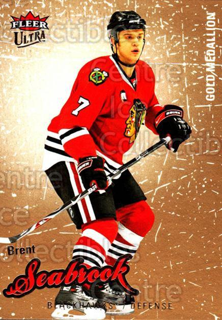 2008-09 Ultra Gold #120 Brent Seabrook<br/>4 In Stock - $2.00 each - <a href=https://centericecollectibles.foxycart.com/cart?name=2008-09%20Ultra%20Gold%20%23120%20Brent%20Seabrook...&quantity_max=4&price=$2.00&code=238474 class=foxycart> Buy it now! </a>