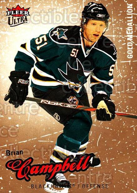 2008-09 Ultra Gold #124 Brian Campbell<br/>5 In Stock - $2.00 each - <a href=https://centericecollectibles.foxycart.com/cart?name=2008-09%20Ultra%20Gold%20%23124%20Brian%20Campbell...&quantity_max=5&price=$2.00&code=238478 class=foxycart> Buy it now! </a>