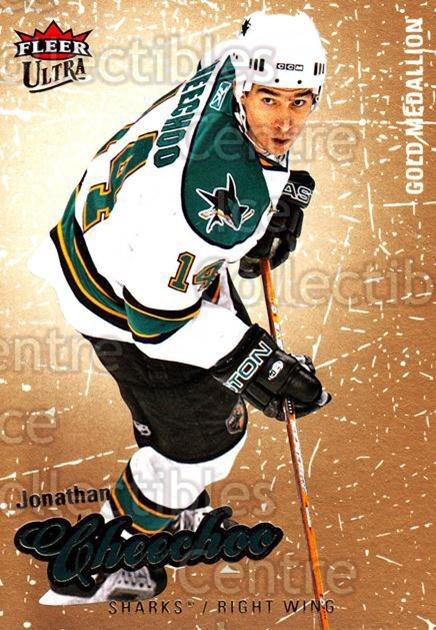 2008-09 Ultra Gold #184 Jonathan Cheechoo<br/>4 In Stock - $2.00 each - <a href=https://centericecollectibles.foxycart.com/cart?name=2008-09%20Ultra%20Gold%20%23184%20Jonathan%20Cheech...&quantity_max=4&price=$2.00&code=238539 class=foxycart> Buy it now! </a>