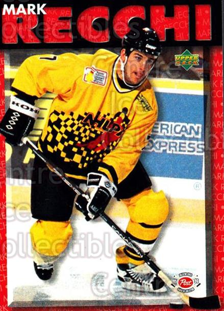 1995-96 Post Cereal Upper Deck #9 Mark Recchi<br/>2 In Stock - $3.00 each - <a href=https://centericecollectibles.foxycart.com/cart?name=1995-96%20Post%20Cereal%20Upper%20Deck%20%239%20Mark%20Recchi...&quantity_max=2&price=$3.00&code=238567 class=foxycart> Buy it now! </a>