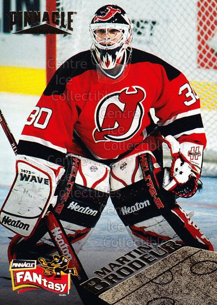 1995-96 Pinnacle Fantasy #19 Martin Brodeur<br/>5 In Stock - $3.00 each - <a href=https://centericecollectibles.foxycart.com/cart?name=1995-96%20Pinnacle%20Fantasy%20%2319%20Martin%20Brodeur...&price=$3.00&code=238605 class=foxycart> Buy it now! </a>