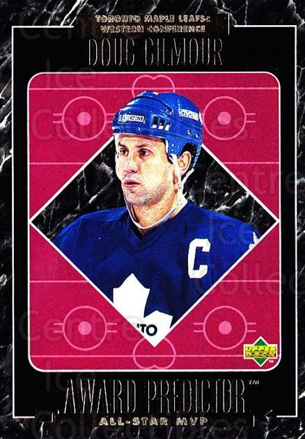 1995-96 Upper Deck Predictor AS Game Redemption #MVPR10 Doug Gilmour<br/>3 In Stock - $20.00 each - <a href=https://centericecollectibles.foxycart.com/cart?name=1995-96%20Upper%20Deck%20Predictor%20AS%20Game%20Redemption%20%23MVPR10%20Doug%20Gilmour...&quantity_max=3&price=$20.00&code=238631 class=foxycart> Buy it now! </a>