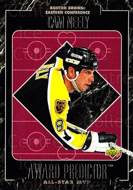 1995-96 Upper Deck Predictor AS Game Redemption #MVPR22 Cam Neely<br/>3 In Stock - $20.00 each - <a href=https://centericecollectibles.foxycart.com/cart?name=1995-96%20Upper%20Deck%20Predictor%20AS%20Game%20Redemption%20%23MVPR22%20Cam%20Neely...&quantity_max=3&price=$20.00&code=238643 class=foxycart> Buy it now! </a>