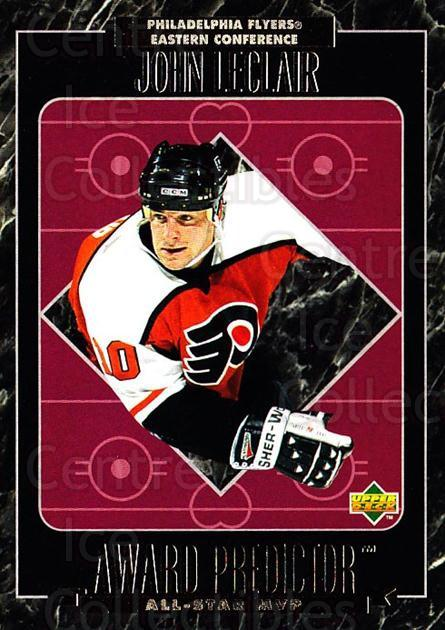 1995-96 Upper Deck Predictor AS Game Redemption #MVPR24 John LeClair<br/>2 In Stock - $20.00 each - <a href=https://centericecollectibles.foxycart.com/cart?name=1995-96%20Upper%20Deck%20Predictor%20AS%20Game%20Redemption%20%23MVPR24%20John%20LeClair...&quantity_max=2&price=$20.00&code=238645 class=foxycart> Buy it now! </a>