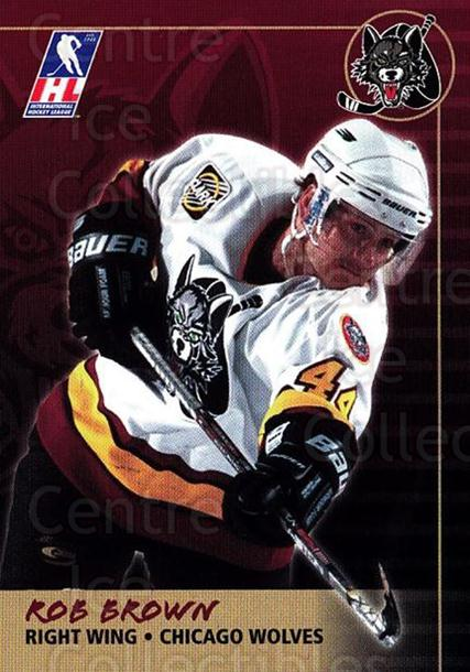 2000-01 Chicago Wolves #4 Rob Brown<br/>6 In Stock - $3.00 each - <a href=https://centericecollectibles.foxycart.com/cart?name=2000-01%20Chicago%20Wolves%20%234%20Rob%20Brown...&quantity_max=6&price=$3.00&code=238745 class=foxycart> Buy it now! </a>