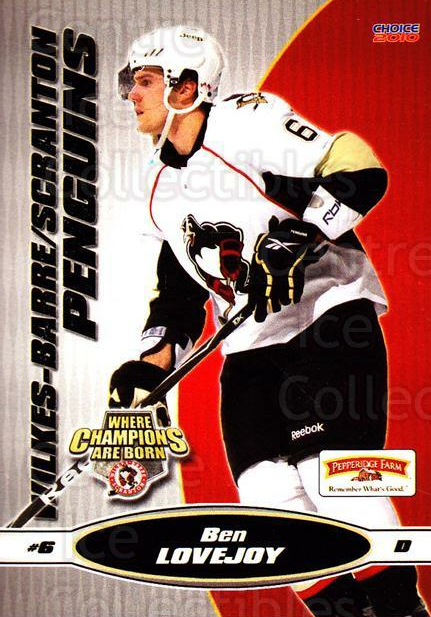 2009-10 Wilkes-Barre Scranton Penguins #18 Ben Lovejoy<br/>5 In Stock - $3.00 each - <a href=https://centericecollectibles.foxycart.com/cart?name=2009-10%20Wilkes-Barre%20Scranton%20Penguins%20%2318%20Ben%20Lovejoy...&quantity_max=5&price=$3.00&code=238784 class=foxycart> Buy it now! </a>