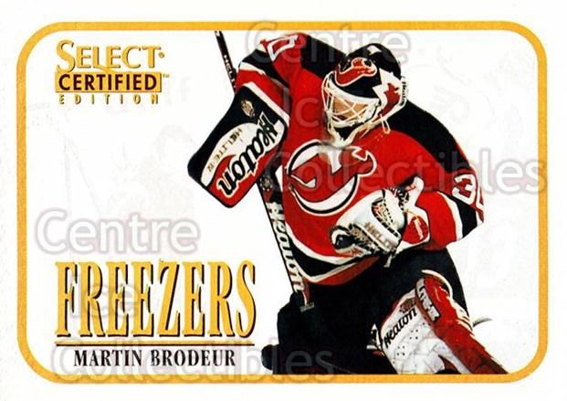 1996-97 Select Certified Freezers #1 Martin Brodeur<br/>1 In Stock - $5.00 each - <a href=https://centericecollectibles.foxycart.com/cart?name=1996-97%20Select%20Certified%20Freezers%20%231%20Martin%20Brodeur...&price=$5.00&code=238873 class=foxycart> Buy it now! </a>